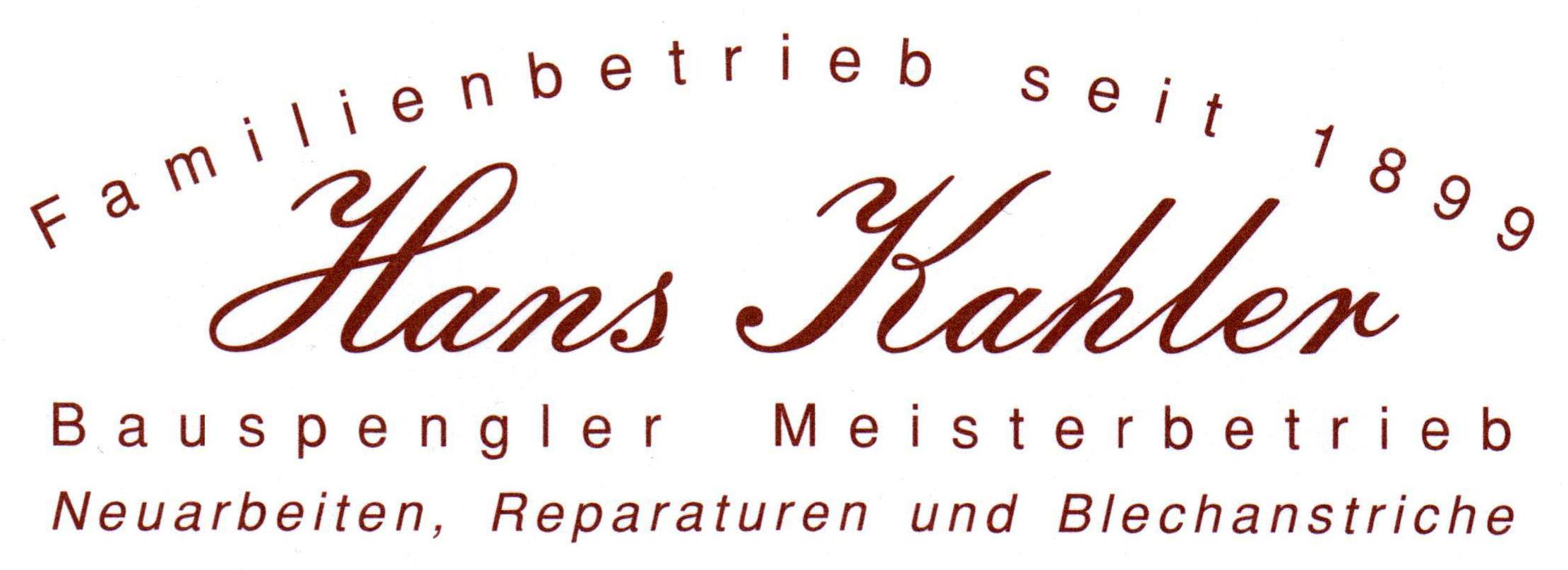 Logo Firma Spenglerei Hans Kahler GmbH
